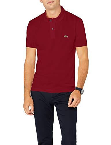 Lacoste PH4012, T-shirt Polo Uomo, Rosso (Bordeaux 476), X-Large (Taglia Produttore: 6)