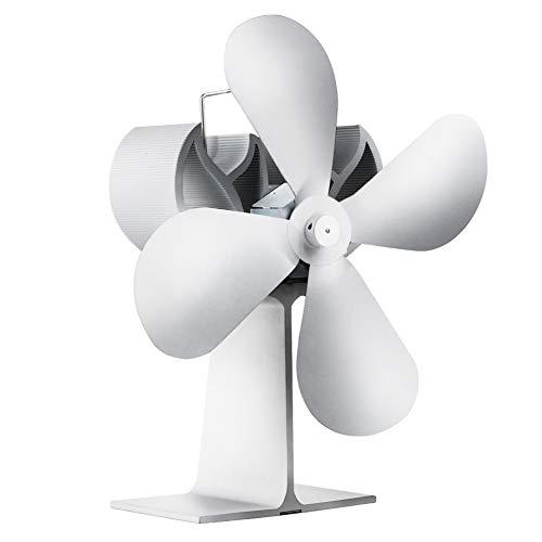 WYBFBYQ 4-Blade fornuis, ventilator, warmte, voor fornuis, ventilator, hete lucht thuis, pelletpan, ventilator voor kachels