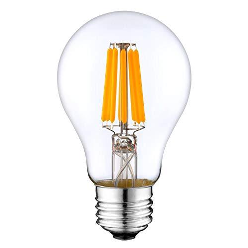 XHA DC 12 Voltios 6 Vatios 2700k LED Edison Filamento A19 A60 Bombilla E26 E27 Mediano Base Lámpara DC 12V 24V 36V Portátil Batería Solar Banco Apagado Cuadrícula Sistema Compatible