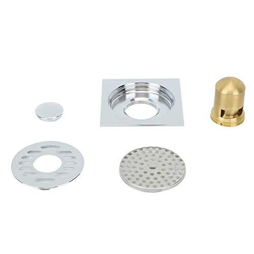 Insektenschutz Silber Korrosionsbeständige Duschrinnen, Bodenablauf, großer Entwässerungsdurchmesser für Keller Balkon Küche Bad Waschraum