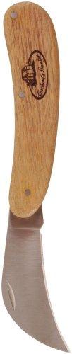Esschert Design Gartenmesser, Gartenhippe mit Holzgriff, ca. 3,3 cm x 2 cm x 18 cm