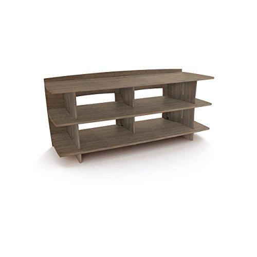 Legaré Furniture TV Media Stand, Standard Storage Unit for Bedroom, Basement, and Playroom, Grey Driftwood
