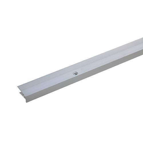 acerto 37164 Aluminium Abschlussprofil 2- teilig - 100cm - silber 5-9mm gebohrt * Robust * Leichte Montage | Aluprofil als professionelles Wandanschlussprofil | Wand-Abschlussleiste für Laminat