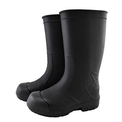 [STICO] スティコ WBM-12 長靴 つま先保護 滑り止め 作業靴 軽量 耐滑 耐油 男女兼用 インソール付き bk-28