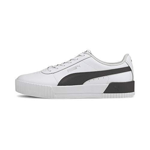 PUMA Carina L, Zapatillas Mujer, Blanco White Black Silver, 37.5 EU