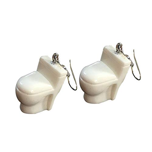 Ohrringe für Frauen, niedlicher Badewannen-Toilettensitz, Wasserspender, baumelnde Haken, Ohrringe, Schmuck, Geschenk – Closestool