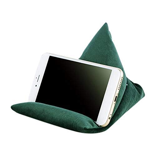 Nicole Knupfer Tablet Stand/Bean Bag Cushion Holder for All Devices/Any Angle on Any Surface (Green)