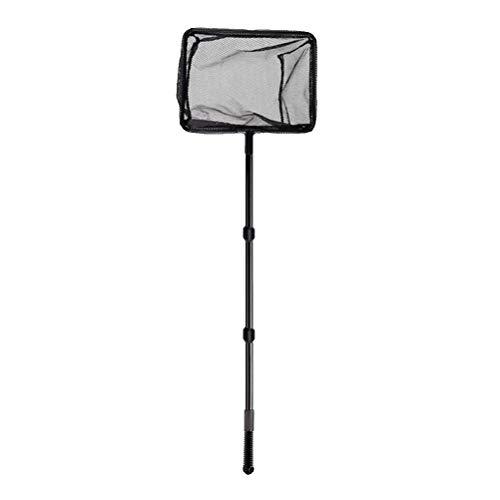 POPETPOP Ausziehbares Fischernetz-Kunststoffmastgriff Teleskop-Kescher-Fangnetz für Fischteich-Teiche (Größe L)