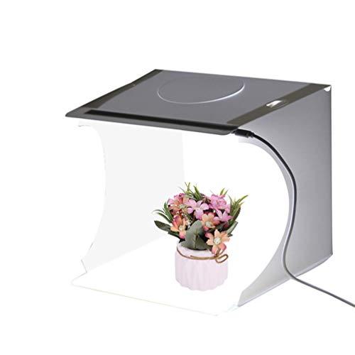 N / A Faltbare Foto Studio Zelt, Leuchtkasten für Fotografie mit LED Licht Mini Fotografie Studio Kit Portable Ausgestattet mit 6 Farben Hintergrundtüchern