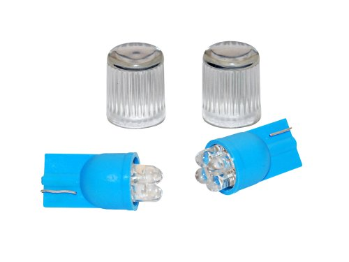 EUFAB 13460 Lot de 2 ampoules 4 LED T10 (Bleu)