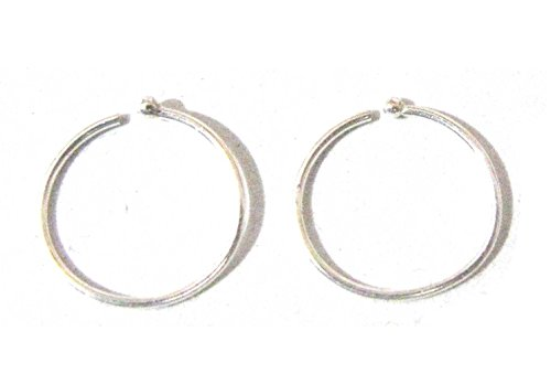 Set of 2 Nose Rings Small and Extra Thin 0.5mm 925 Silver (6 MM)