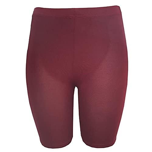 Mujeres Niña Pantalones Cortos Deportivos Correr Gimnasio Fitness Pantalones Cortos Entrenamiento Playa Casual Unisex Sólido Skinny