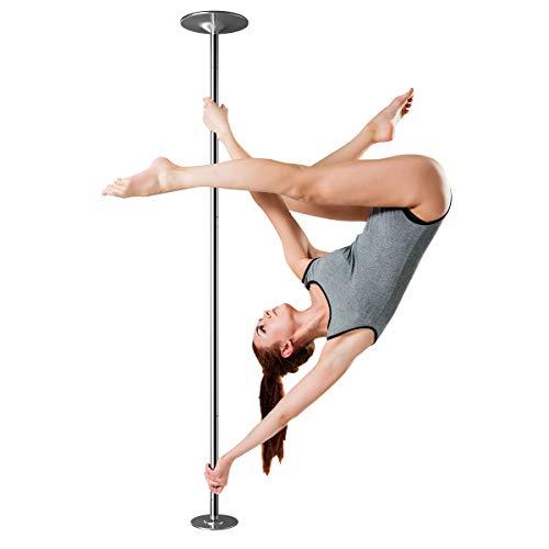 DREAMADE Tanzstange, Pole Dance Stange 2,25 bis 2,82m Einstellbar, Tanzstange mit Statik & Spinning Funktion,φ45mm Strip Stange, für Anfänger & Profi, Max. 200 kg Belastbar