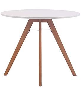 DESIGN SCANDINAVO - tavolino nordico rotondo dallo stile moderno ispirato al look scandinavo - ideale per inserirsi in qualsiasi ambiente e arredo grazie alle linee sobrie e alle tonalità versatili di ripiano e telaio MATERIALI - il tavolo da pranzo ...