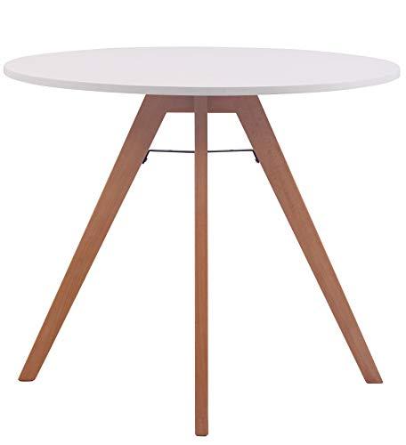 CLP Küchentisch Viktor I Esstisch Mit MDF Tischplatte I Bistrotisch Mit Buchenholzgestell, Größe:90 cm