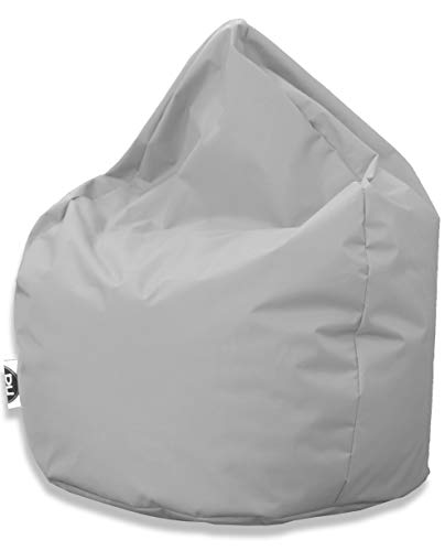 Patchhome Sitzsack Tropfenform - Grau für In & Outdoor XL 300 Liter - mit Styropor Füllung in 25 versch. Farben und 3 Größen