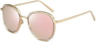 Sunglasses Fashion Accessories Polarized Sunglasses Fashion Round Frame Sunglasses UV Fishing Outdoor Climbing Driving (Color : Pink)
