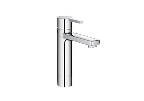 Roca Naia - grifo monomando para lavabo con caño mezzo plus, cuerpo liso, cold start...