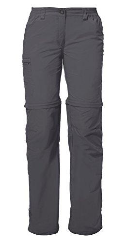 VAUDE Farley ZO Pantalon IV Femme, Iron, FR : XL (Taille Fabricant : 46)