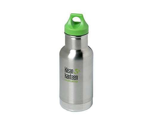 Klean Kanteen Erwachsene Vakuumisoliert mit Loop Cap Trinkflasche, Brushed Stainless, S