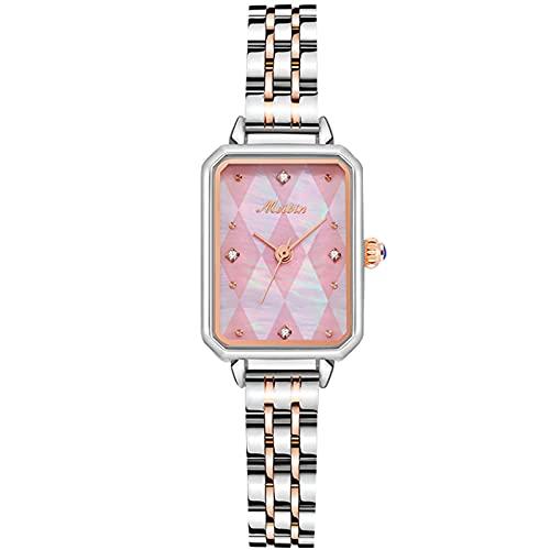 RORIOS Relojes Mujer Analogico Relojes con Banda de Acero Inoxidable Impermeable Relojes de Pulsera Moda Vestir Relojes para Mujer