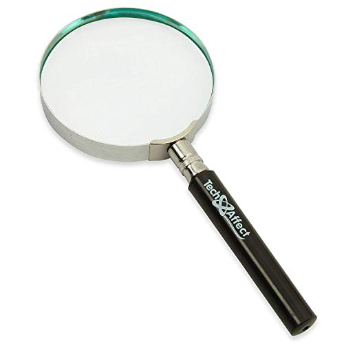 Magnifying Glass with Light Handheld Classic Magnifying Glass, Large 5X Magnifying Glass, high Quality Real Glass Precision Lens high Definition for Elderly Reading, Jewelry, Stamp col