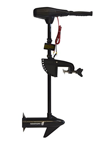 Newport Vessels NV-Series 36lb Thrust Saltwater Transom Mounted Trolling Electric Trolling Motor w/LED Battery Indicator & 30' Shaft