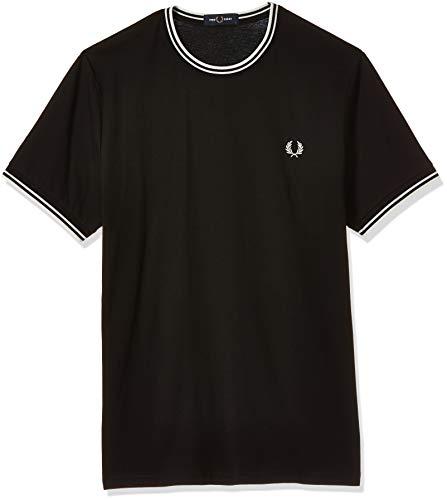 Fred Perry FP Twin Tipped T-Shirt, Nero, Medium (Taglia Produttore:M) Uomo