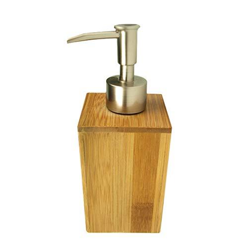 Handzeep Dispensers Handdesinfecterend Badlotion Persfles Natuurlijke Bamboe Drukfles Voor Lichaamswas Handzeep Zelfbruiners Bronzers en Massage Lotion