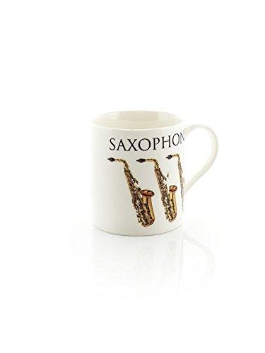 Little Snoring Cards & Gifts Tasse, Motiv Saxophon, Mehrfarbig