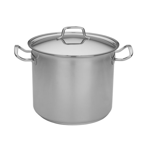 MIU France Stainless Steel Tri-Ply Aluminum Stock Pot with Lid, 12-Quarts