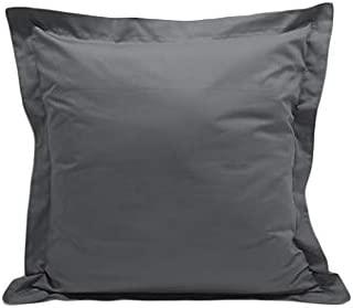 Acrilan Bedding Elephant Grey Pillow Shams Set of 2 - Luxury 600 Thread Count 100% Egyptian Cotton (2 Pack, Euro 26x26)