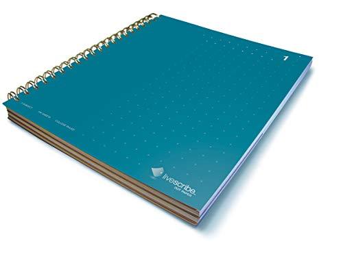 Livescribe Notizbuch, 21,6 x 28,9 cm, mit 3 Fächern, Blau