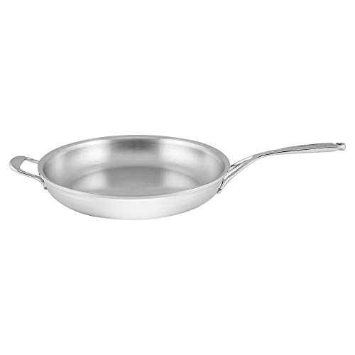 Demeyere Atlantis Proline 12.6-inch Stainless Steel Fry Pan with Helper Handle