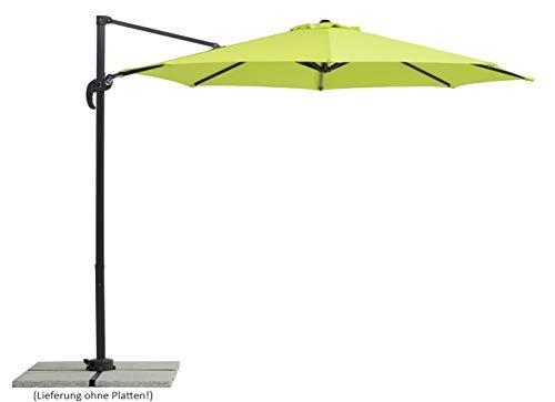 Schneider-Schirme Rhodos Junior, apfelgrün, ca. 300 cm Ø, 8-teilig, rund Sonnenschirm