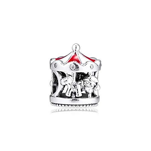 LILANG Pulsera de joyería 925 Pandora Plata de Ley Genuina Natural Encantos...