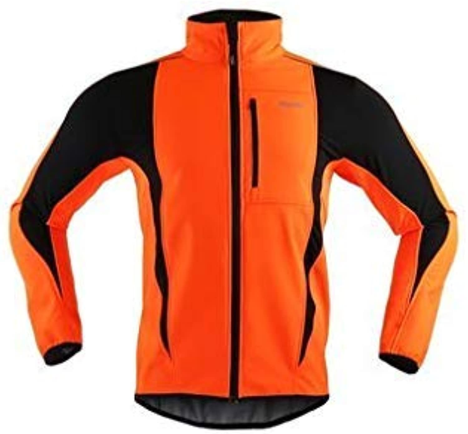 ARSUXEO Men Sports Cycling Clothing Bike Bicycle Winter Coat Jersey Long Sleeve Jacket Size S