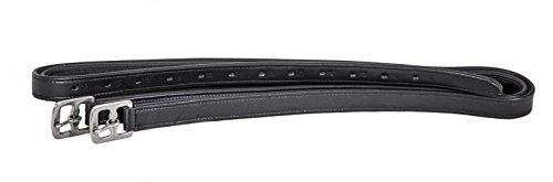 Swiss Horse Steigbügelriemen Leder-Nylon besonders weich - Neu - schwarz 160 cm