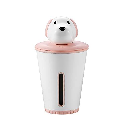 Roze aroma etherische olie diffuser hond luchtbevochtiger luchtreiniger LED nachtlampje mini USB fogger auto ultrasone puppy luchtbevochtiger