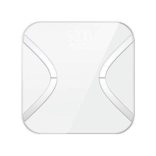 XTZJ Escala de grasa corporal, escala de BMI de BMI de peso digital Báscula de baño con pantalla LCD, alta precisión 0,1LB analizador de composición de báscula Bluetooth inteligente con sincronización
