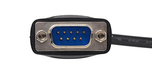 『iBUFFALO USBシリアルケーブル(USBtypeA to D-sub9ピン)0.5m ブラックスケルトン BSUSRC0605BS』の1枚目の画像
