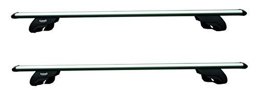Summit SUP-930 Premium dakdrager voor auto's met opgehoven looprails, aluminium, set van 2