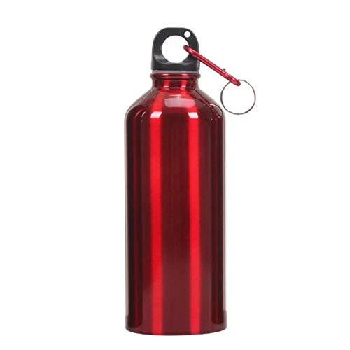 400/500/600 / 700ML Botella de Agua Caliente Ejercicio al Aire Libre Bicicleta de plástico Botellas de Agua Deportivas Botella de Bebida de Aluminio con hidrofrasco - A2,700ml, Plata