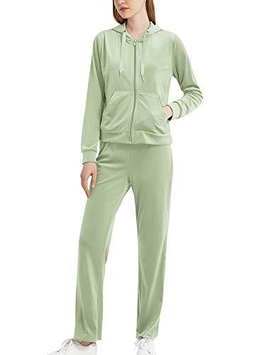 MessBebe Survêtements pour Femmes velours Lounge Wear Sweat à Capuche Ensemble de Sport Jogging Décontracté Sportswear Survêtement à Manches Longues Haut et Pantalon 2 Pièce