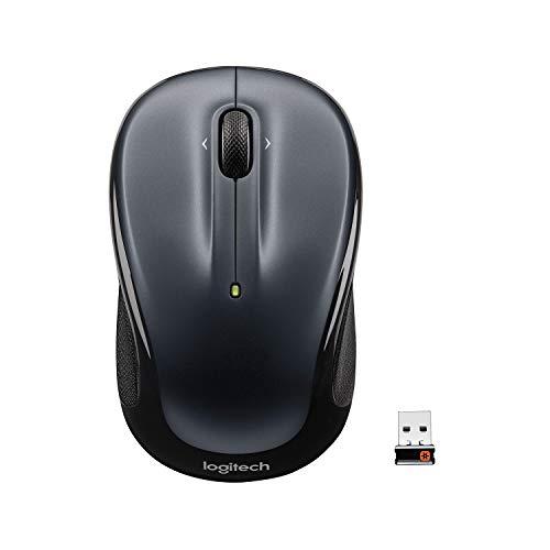 Logitech M325 Kabellose Maus, 2.4 GHz Verbindung via Unifying USB-Empfänger, 1000 DPI Optischer Sensor, 18-Monate Akkulaufzeit, 3 Tasten, PC/Mac/Chromebook -Silber