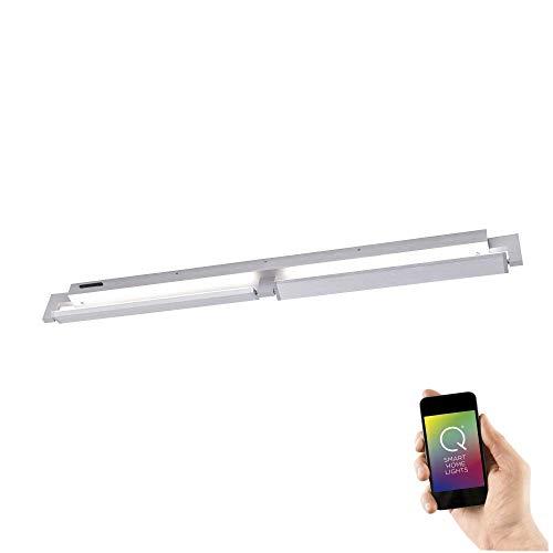 LED Wandleuchte, RGB+W Farbwechsel, Smart Home Beleuchtung, CCT Farbsteuerung, dimmbar, inkl. Fernbedienung, 2 flammig