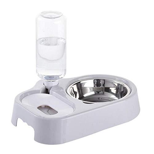 Glqwe waterfles van glas voor huisdieren, kat, automatische jenevers, kat, niet nat water, kat, water, voederapp, roestvrij staal