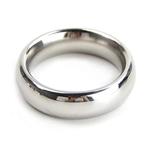 PhQiB Tragbarer Metall glatte Gewichte Ringe Hodensack Spermiensperre Männliche Spermien Sperma Lock Hosen Sonnenbrille (Größe : L)