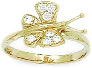 Roy Rose Jewelry 14K Yellow Gold Hearts /& X Toe Ring