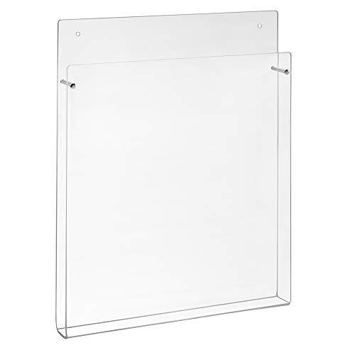 DIN A4 Wandprospekthalter aus Acrylglas mit kleiner Fülltiefe (23mm) - Zeigis® / Wandhalter/Dokumentenhalter/Zeitschriftenhalter/Broschürenhalter/Transparent
